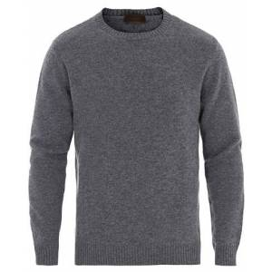 Altea Virgin Wool Crew Neck Sweater Grey Melange