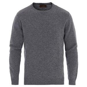 Altea Virgin Wool Crew Neck Sweater Grey Melange