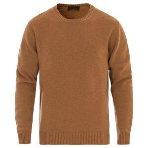 Altea Virgin Wool Crew Neck Sweater Camel