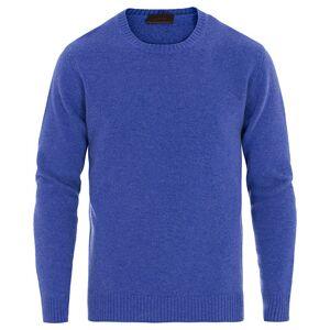 Altea Virgin Wool Crew Neck Sweater Blue