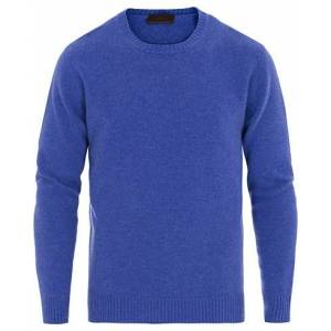 Altea Virgin Wool Crew Neck Sweater Blue