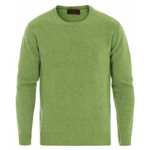 Altea Virgin Wool Crew Neck Sweater Light Green