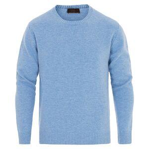 Altea Virgin Wool Crew Neck Sweater Light Blue