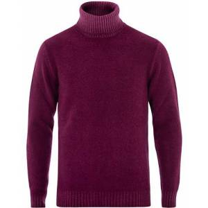 Altea Brushed Wool Turtleneck Sweater Burgundy