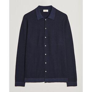 Altea Rib Stitch Wool Turtleneck Sweater Navy