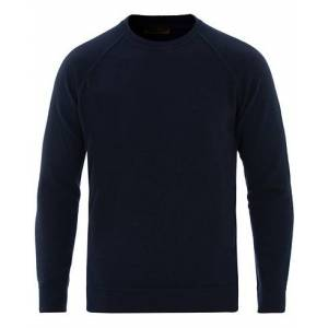 Altea Brushed Cashmere Blend Sweater Navy