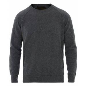 Altea Brushed Cashmere Blend Sweater Grey Melange