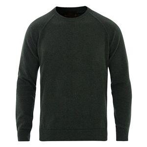 Altea Brushed Cashmere Blend Sweater Dark Green