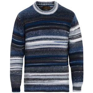 Altea Wool Blend Multistripe Sweater Grey/Blue