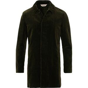 Aspesi Corduroy Coat Dark Green