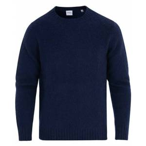 Aspesi Shetland Crew Neck Sweater Navy