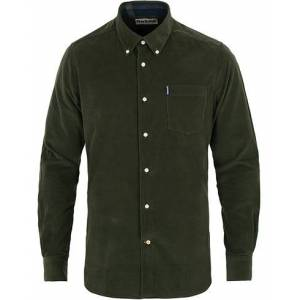 Barbour Lifestyle Corduroy Shirt Forest Green