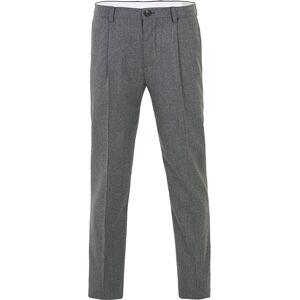 Brunello Cucinelli Slim Fit Super 120s Flannel Trousers Grey Melange