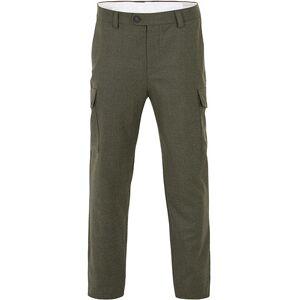 Brunello Cucinelli Slim Fit Cargo Flannel Trousers Green Melange