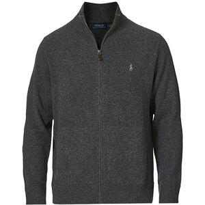 Polo Ralph Lauren Lambswool Full Zip Dark Grey