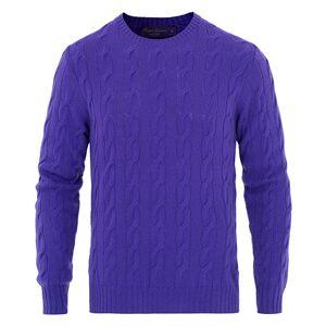 Ralph Lauren Purple Label 7 Gauge Cashmere Cable Sweater Classic Viole