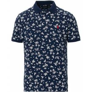 Polo Ralph Lauren Custom Slim Fit Bahama Wakeboarder Polo Navy