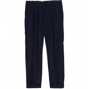 NN07 Codo Pleated Turn Up Trousers Navy