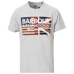 Barbour International Steve McQueen Vintage Flag Tee Grey Melange