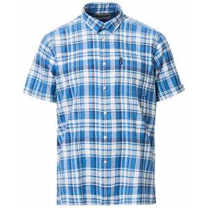 Barbour Lifestyle Cotton/Linen Short Sleeve Check Shirt Blue