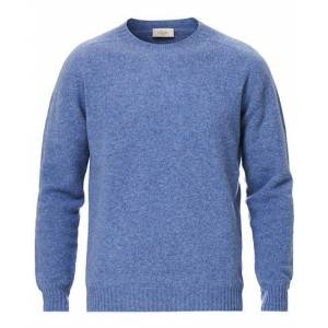 Altea Shetland Crew Neck Sweater Light Blue