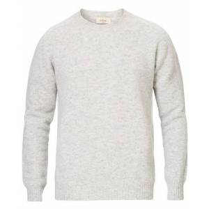 Altea Shetland Crew Neck Sweater Light Grey