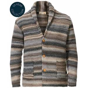altea Dégradé Shawl Collar Cardigan Grey/White