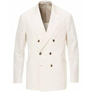 Brunello Cucinelli Sea Island Cotton Corduroy Blazer Winter White