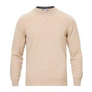 Brunello Cucinelli Cashmere Contrast Crew Neck Sweater Beige