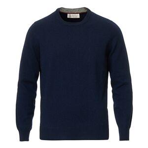 Brunello Cucinelli 2 Ply Cashmere Pullover Navy