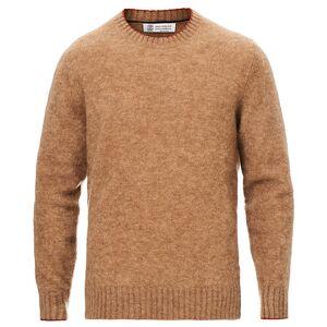 Brunello Cucinelli Soft Mohair Crew Neck Sweater Brown