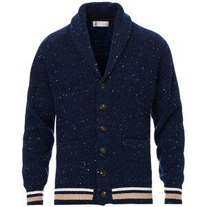 Brunello Cucinelli Cashmere Blend Shawl Collar Cardigan Dark Blue