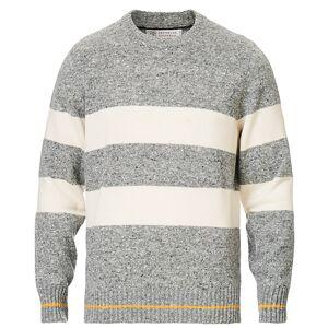 Brunello Cucinelli Cashmere Striped Sweater Grey/White