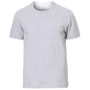 Brunello Cucinelli Contrast Collar T-Shirt Grey/White