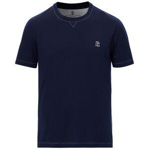 Brunello Cucinelli Short Sleeve Logo T-Shirt Dark Blue