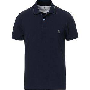 Brunello Cucinelli Short Sleeve Polo Navy