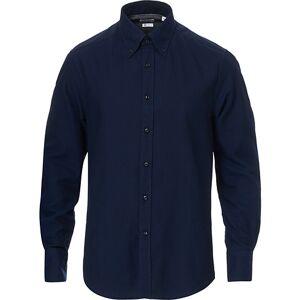 Brunello Cucinelli Slim Fit Button Down Flannel Shirt Navy