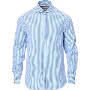 Brunello Cucinelli Slim Fit Striped Shirt Sky Blue