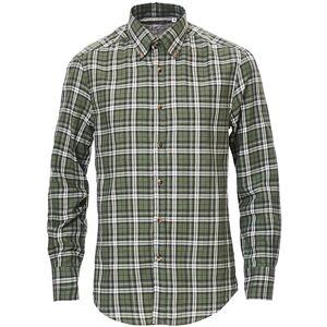 Brunello Cucinelli Slim Fit Button Down Flannel Shirt Green Check