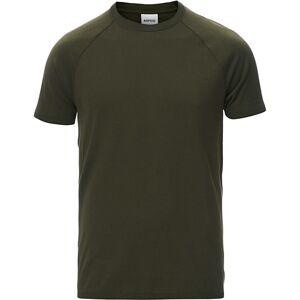 Aspesi Knitted Short Sleeve T-Shirt Military