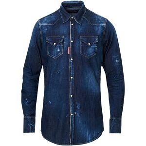 Dsquared2 Western Denim Shirt Dark Washed