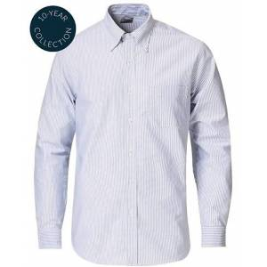 Brooks Brothers Regent Fit Supima Cotton Oxford Shirt White/Blue