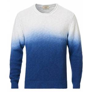 altea Sfumata Crew Neck Sweater Blue