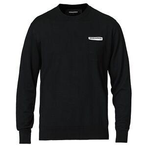 Dsquared2 Logo Knitted Crew Neck Black