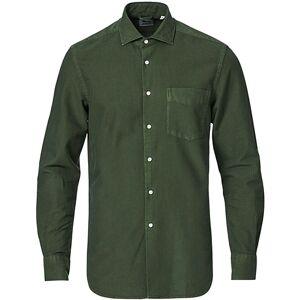 Aspesi Regular Dyed Linen Shirt Washed Green