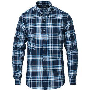 Aspesi Robert Cotton Madras Shirt Blue Check
