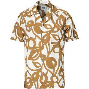 Aspesi Kingpin Printed Open Collar Shirt White