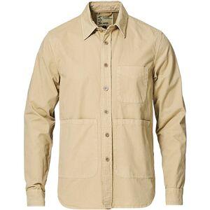 Aspesi Peached Cotton Utility Shirt Tobacco