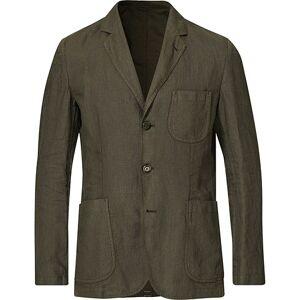 Aspesi Samuraki Linen Blazer Dark Green