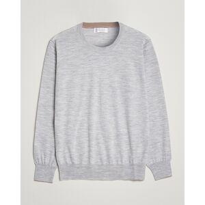 Brunello Cucinelli Wool/Cashmere Crew Neck Light Grey